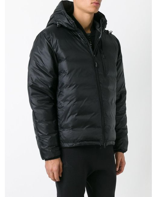 Canada Goose Down Hooded Jacket In Black For Men Lyst