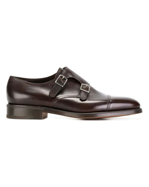 John Lobb | Brown Classic Monk Shoes for Men | Lyst