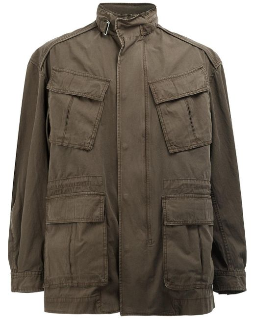 Juun.J | Green High Neck Loose-fit Coat for Men | Lyst