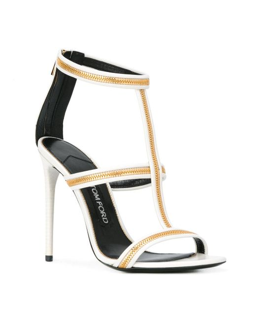 tom ford zipped sandals calf leather leather
