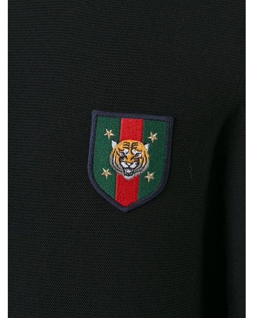 Gucci Web Tiger Head Patch Jumper In Black For Men Lyst