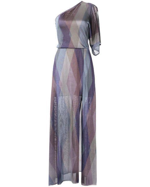 Cecilia Prado | Purple One Shoulder Knit Dress | Lyst