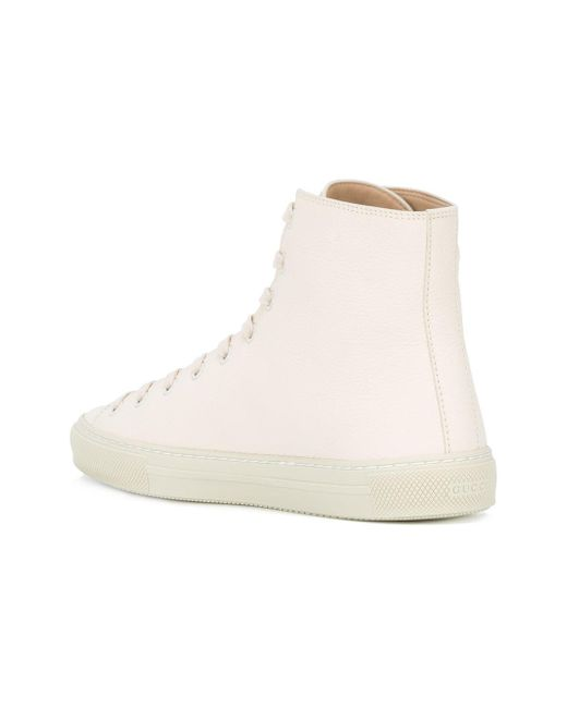 gucci kingsnake hi top sneakers in white lyst. Black Bedroom Furniture Sets. Home Design Ideas