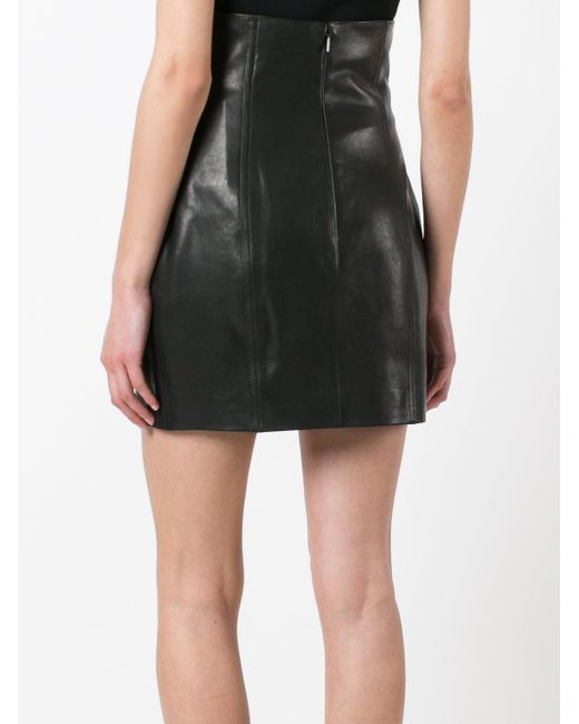 laurent high waisted fitted skirt in black lyst