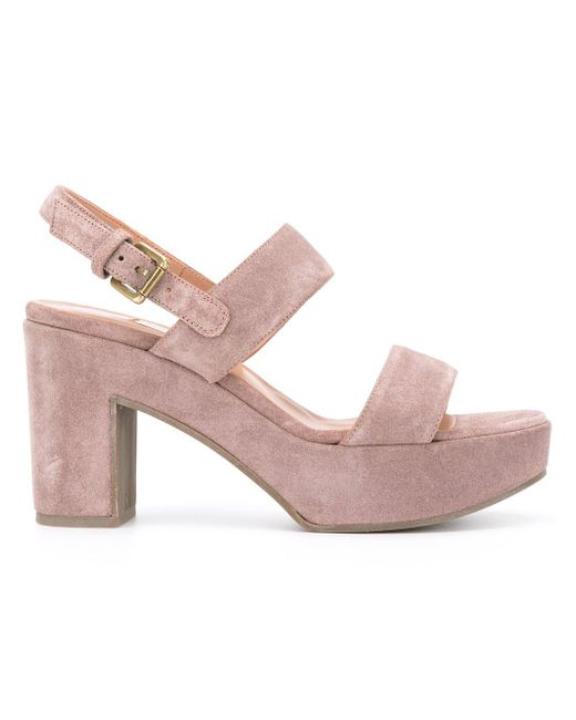 L'Autre Chose | Pink Strapped Sandals | Lyst