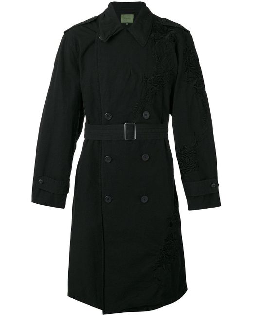 Amen | Black - Embroidered Trench Coat - Men - Cotton/viscose - 48 for Men | Lyst