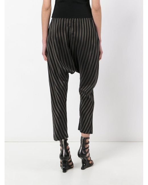 Nude Striped Drop-Crotch Trousers In Black  Lyst-2611