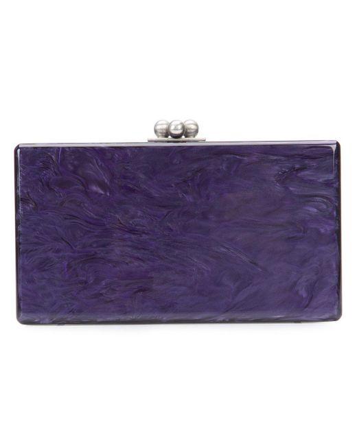 Edie Parker   Purple Box Clutch Bag   Lyst