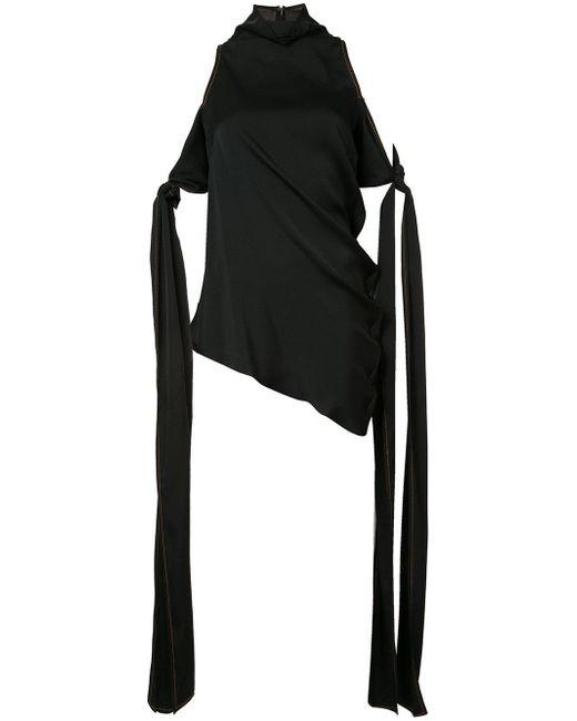 Ellery   Black 'the Lizzies' Drape Top   Lyst