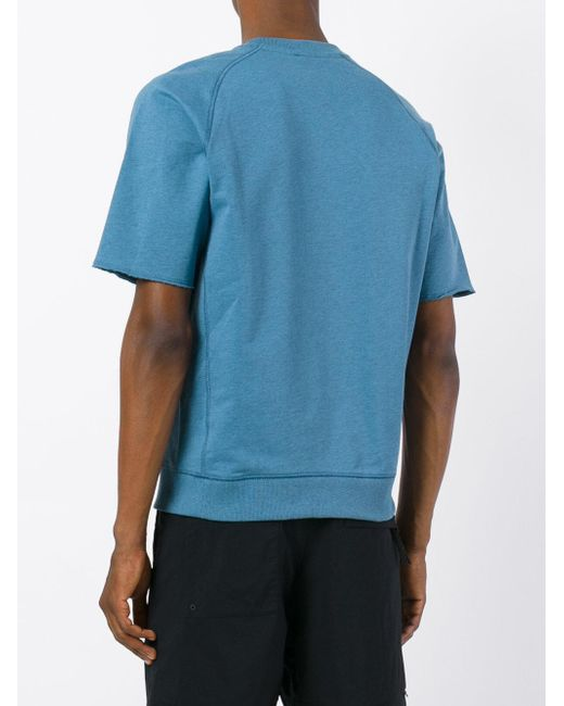 Nike Short Sleeve Sweatshirt in Blue for Men | Lyst
