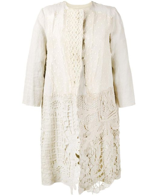 By Walid   Natural Antique Lace Coat   Lyst