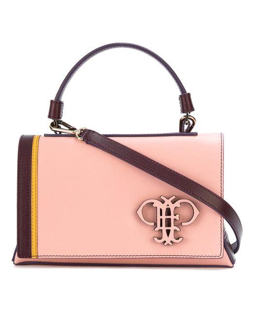 Emilio Pucci | Pink Logo Embossed Shoulder Bag | Lyst