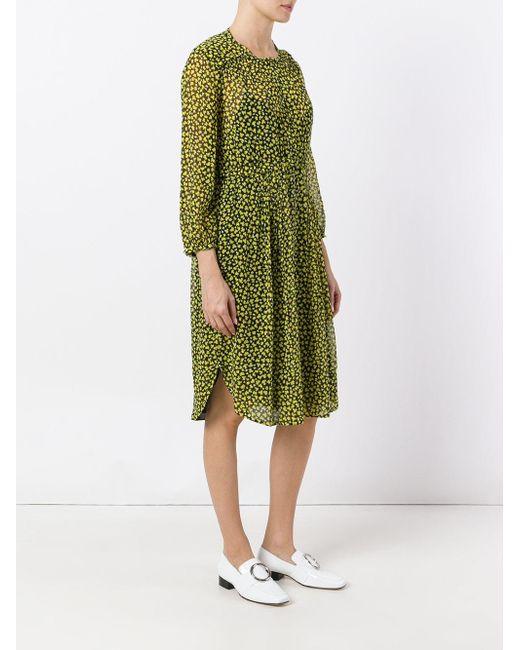 lyst dorothee schumacher printed shirt dress in green save 48. Black Bedroom Furniture Sets. Home Design Ideas