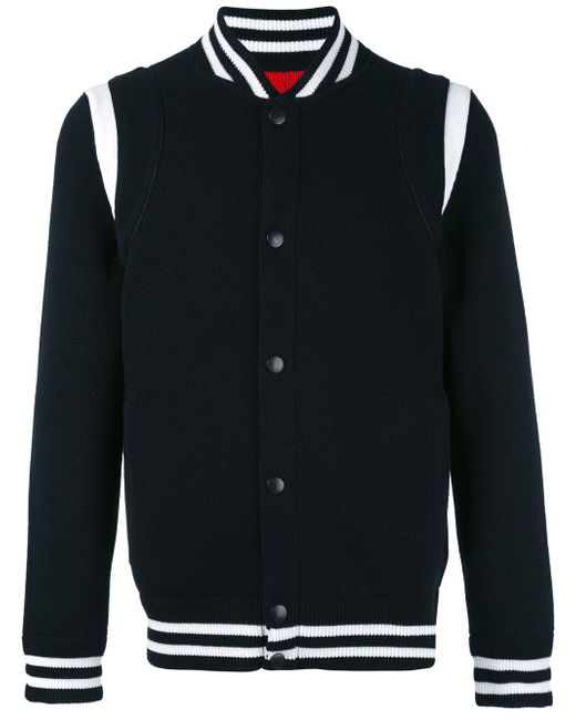Givenchy | Black Jersey Varsity Jacket for Men | Lyst