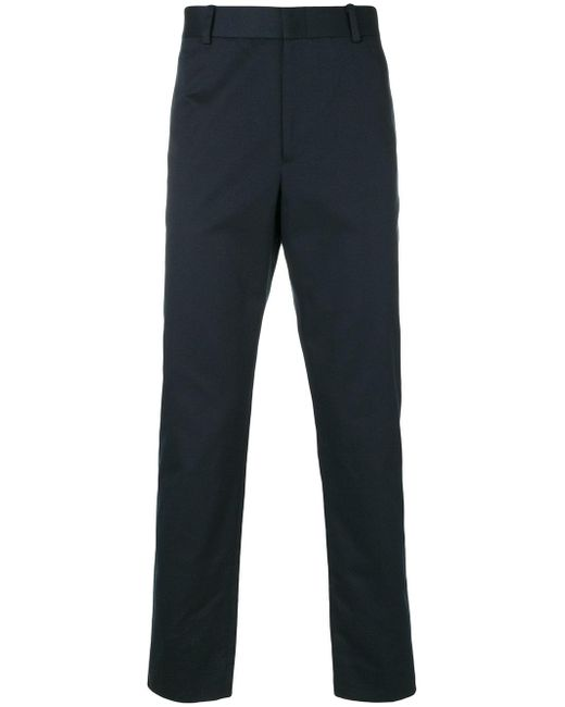 Gucci Straight Leg Trousers in Blue for Men