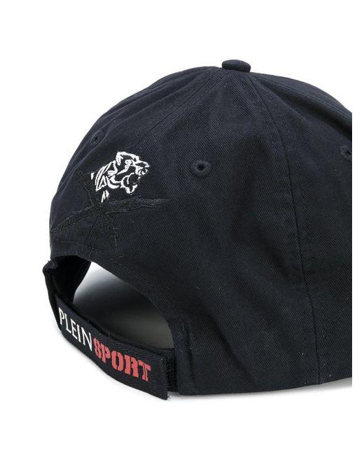philipp plein embroidered logo cap in black for men lyst. Black Bedroom Furniture Sets. Home Design Ideas