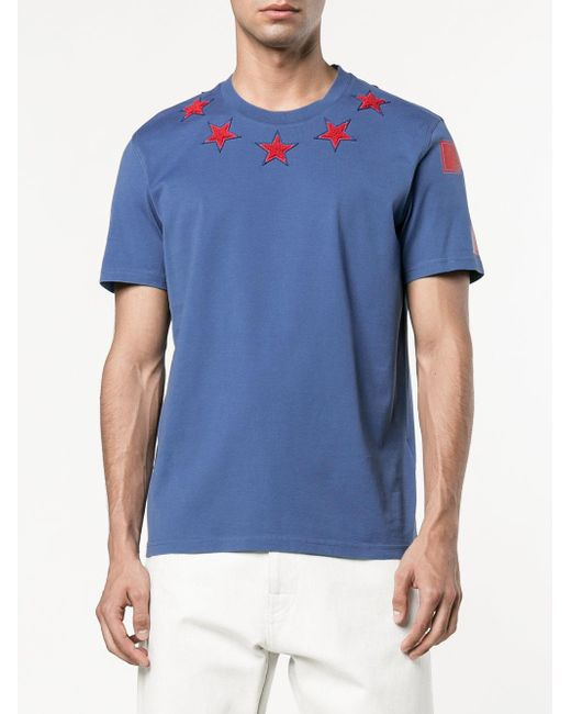 755e5109be421 Givenchy Blue Star Shirt. Givenchy Star Applique T-shirt in Blue for Men