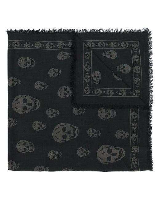 Alexander McQueen | Black Skull Print Scarf for Men | Lyst