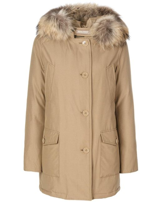 woolrich luxury arctic parka coat in natural lyst. Black Bedroom Furniture Sets. Home Design Ideas
