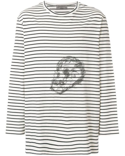 Yohji Yamamoto | Multicolor Striped Skull T-shirt for Men | Lyst