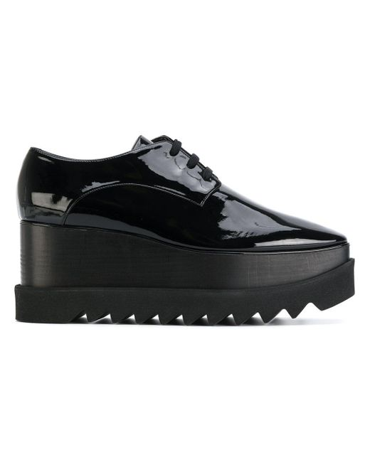 Stella McCartney | Black Elyse Platform Shoes | Lyst