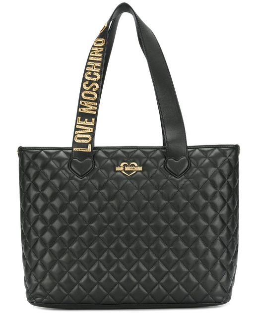 Love Moschino   Black Large Tote Bag   Lyst