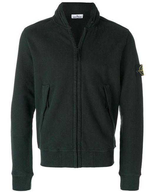 Stone Island | Green Zip Front Sweatshirt for Men | Lyst