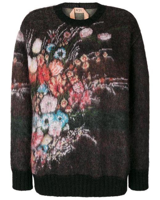N°21 | Multicolor Floral Jumper | Lyst