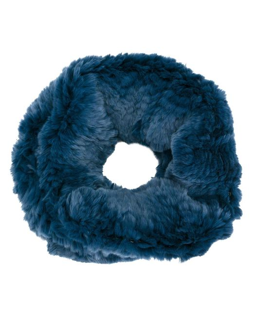 Yves Salomon | Blue Fur Stole | Lyst