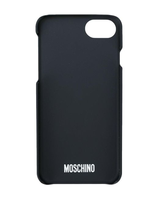 moschino printed iphone 6 6s 7 case in black lyst. Black Bedroom Furniture Sets. Home Design Ideas