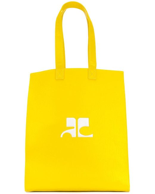 Courreges | Yellow Logo Tote Bag | Lyst