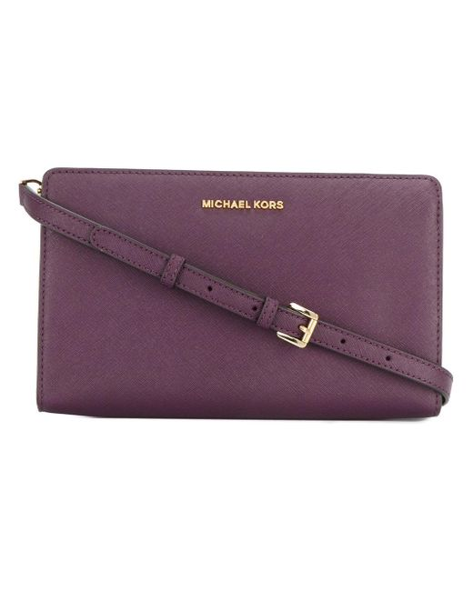 MICHAEL Michael Kors | Purple Jet Set Cross Body Bag - Merlot | Lyst