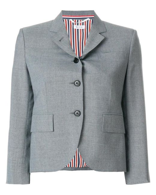 Thom Browne - Gray Short Structured Blazernotched Lapels - Lyst