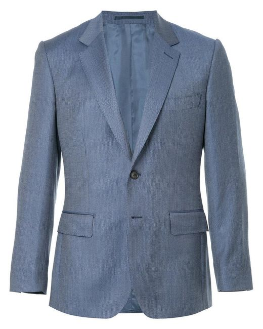 Gieves & Hawkes - Blue Classic Fitted Blazer for Men - Lyst