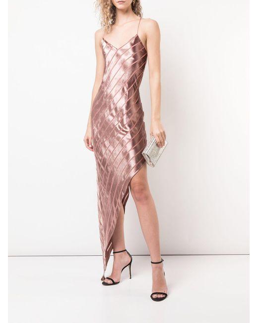 79865939b ... Michelle Mason - Pink Asymmetric Bias Dress - Lyst ...