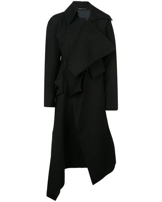Yohji Yamamoto - Black Asymmetric Front Coat - Lyst