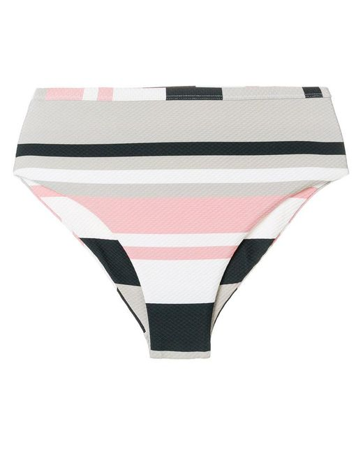 Beautiful Bottoms - Multicolor Bold Striped Bikini - Lyst