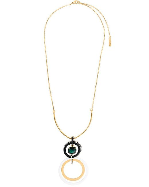 Marni | Multicolor Circle Link Drop Necklace | Lyst