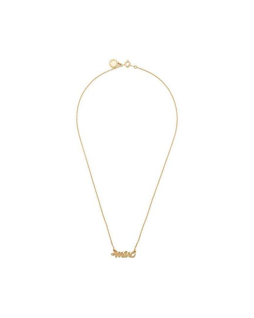 Marc By Marc Jacobs - Metallic Marc Pendant Necklace - Lyst
