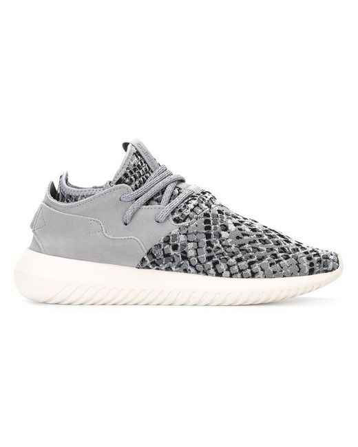 adidas tubular entrap trainers in grey save 14 lyst. Black Bedroom Furniture Sets. Home Design Ideas