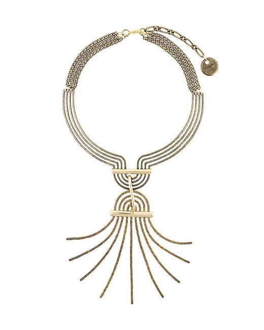 Lanvin - Multicolor Spiral Spread Necklace - Lyst