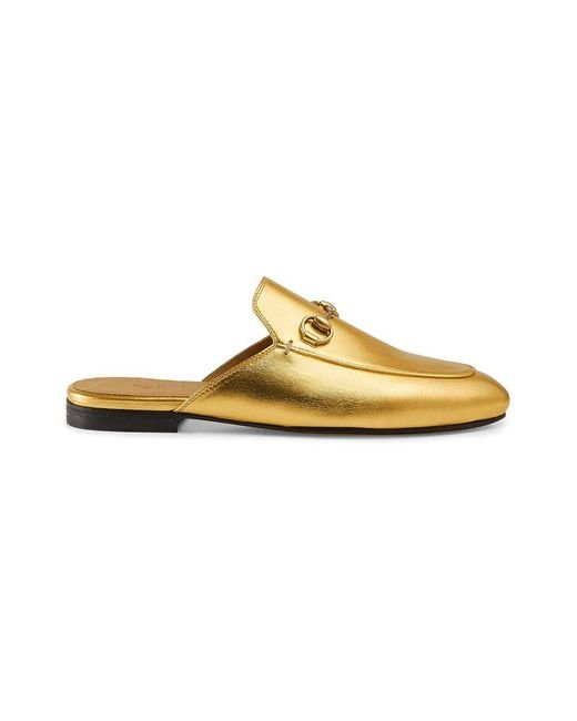 Gucci - Multicolor Princetown Leather Slippers - Lyst