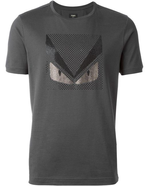 Fendi - Gray Bag Bugs T-shirt for Men - Lyst