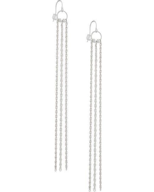 Petite Grand - Metallic Long Chain Earrings - Lyst