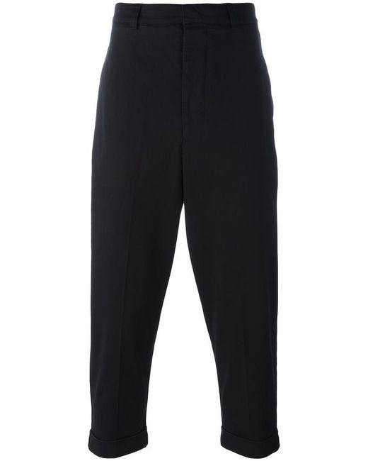 AMI   Black Oversize Carrot-fit Trousers for Men   Lyst