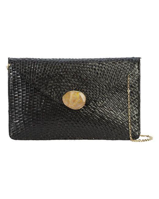 Kayu - Black Chain Strap Envelope Clutch Bag - Lyst