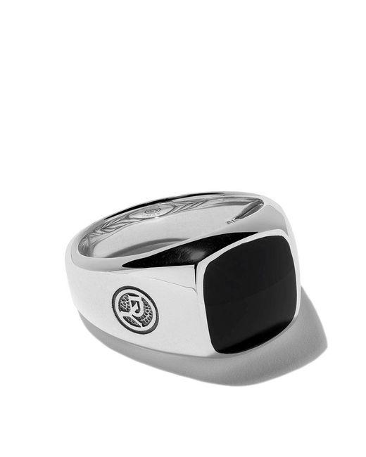 David Yurman - Metallic Exotic Stone Onyx Signet Ring for Men - Lyst
