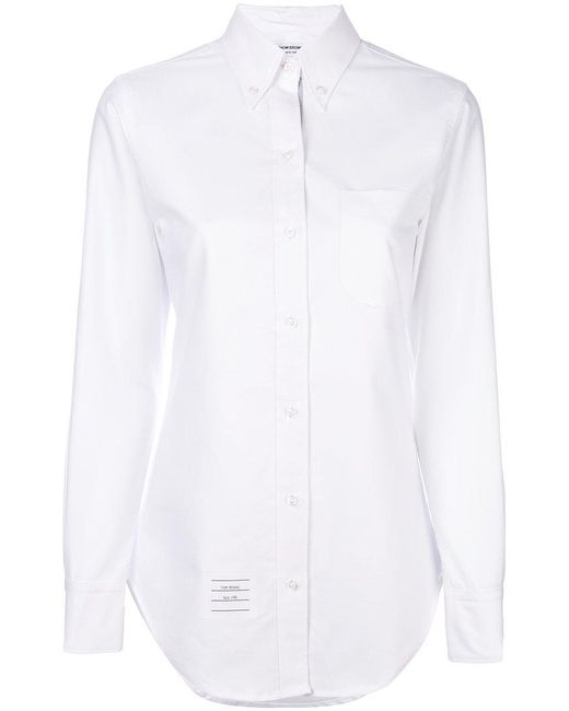 Thom Browne - White Button-down Collar Shirt - Lyst
