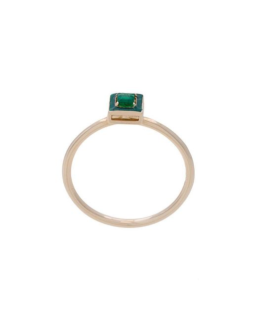 Alison Lou - Metallic Dearest E Emerald Stacking Ring - Lyst