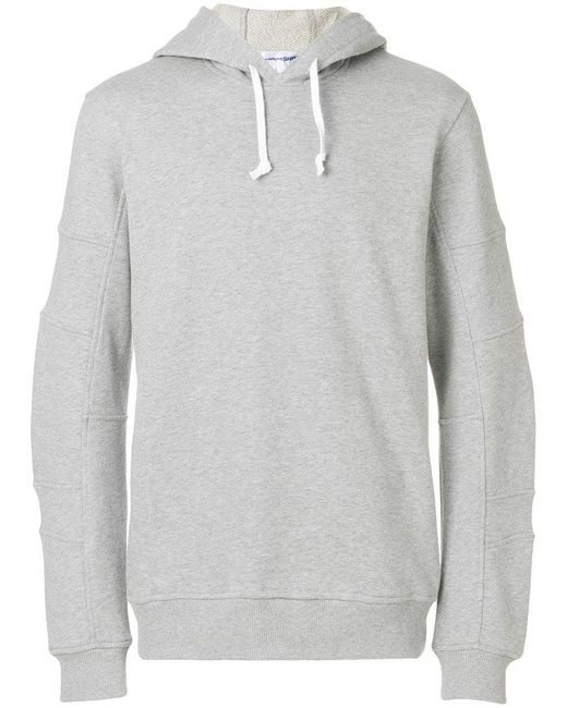 Comme des Garçons - Gray Ribbed Detailing Hoodie for Men - Lyst